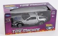 "Michael J. Fox Signed ""Back to the Future"" DeLorean 1:24 Diecast Car (JSA COA)"