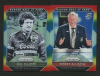 Lot of (2) 2016 Panini Prizm Prizms Rainbow Racing Cards with #96 Bobby Allison #16/24 & #97 Bill Elliot #16/24