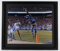 """Odell Beckham Jr. Signed LE Giants 26x30 Custom Framed Photo Inscribed """"Greatest Catch Ever 11-23-14"""" (Steiner Hologram)"""