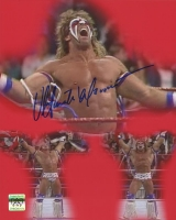 """The Ultimate Warrior Signed WWF """"1991 Royal Rumble vs. Sgt. Slaughter"""" 8x10 Photo (Ultimate Warrior Hologram)"""