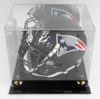 Tom Brady & Rob Gronkowski Signed Patriots Full-Size Helmet with Display Case (PSA LOA, TriStar Hologram)