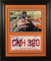 "John Schneider & Tom Wopat Signed ""Dukes of Hazzard"" 19x23 Custom Framed Licence Plate Display with (4) Inscriptions (JSA)"