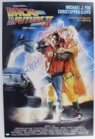 "Christopher Lloyd & Michael J. Fox Signed ""Back To The Future II"" 24x36 Movie Poster (JSA COA) at PristineAuction.com"