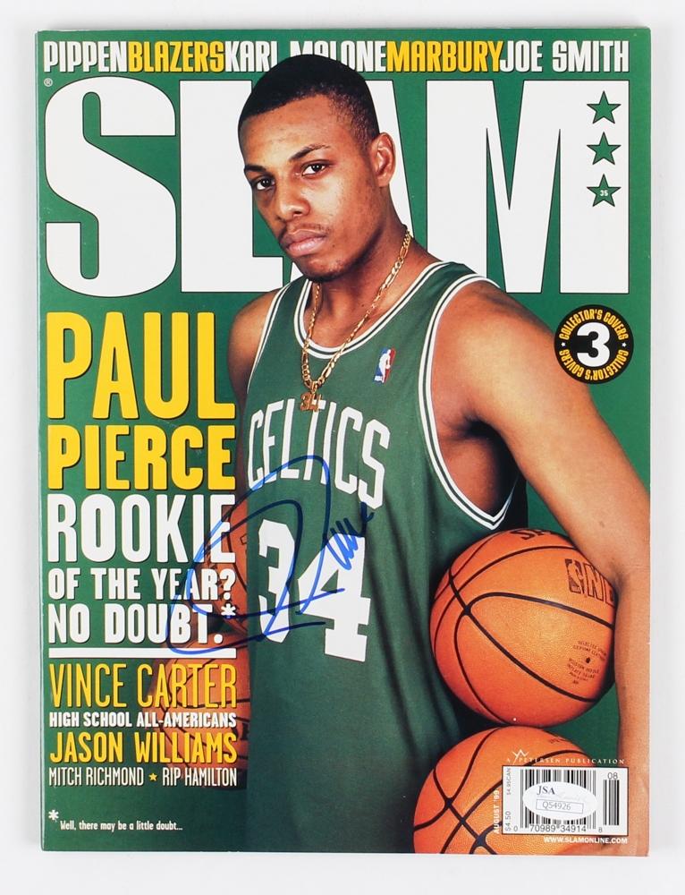 98e3753b Paul Pierce Signed Celtics Slam Magazine (JSA COA) at PristineAuction.com