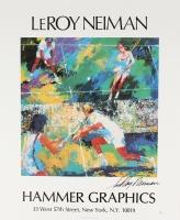 "LeRoy Neiman Signed ""Tennis"" 17x21 Lithograph (JSA COA)"