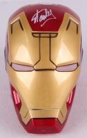 """Stan Lee Signed Full Size Marvel """"Iron Man"""" Mask (Radtke Hologram & Lee Hologram)"""