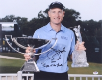 """Jim Furyk Signed 16x20 Photo Inscribed """"2010 Player of the Year"""" (PSA COA)"""