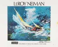 "LeRoy Neiman Signed ""Sailing"" 17x21 Print (JSA COA)"