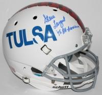 "Steve Largent Signed Tulsa Golden Hurricanes Full-Size Helmet Inscribed ""'75 All-American"" (JSA COA) at PristineAuction.com"