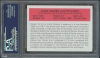 Duke Snider Signed LE 1987 Hygrade All-Greats #87 (PSA Encapsulated) at PristineAuction.com