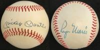Roger Maris & Mickey Mantle Dual Signed OAL Baseball (JSA LOA)