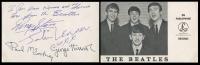 "John Lennon, George Harrison & Ringo Starr Signed ""The Beatles"" Vintage Photo Postcard (JSA LOA)"