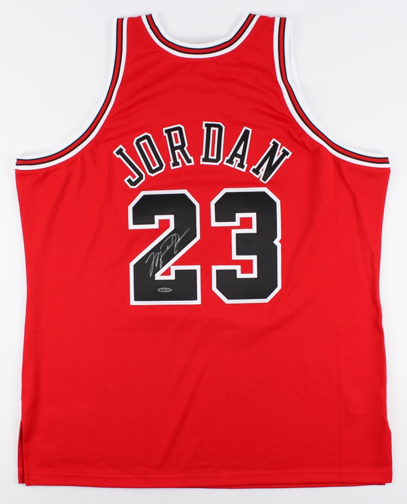 Michael Jordan Signed Mitchell   Ness Authentic Bulls Jersey (UDA COA) at  PristineAuction. 0d81150b3