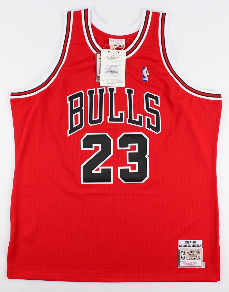 c00c347a739 ... wholesale michael jordan signed mitchell ness authentic bulls jersey  uda coa at pristineauction.