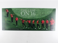 "Tiger Woods Signed LE ""The Chip on 16"" 36x15 Panoramic Photo (UDA COA)"