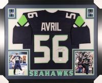 Cliff Avril Signed Seahawks 35x43 Custom Framed Jersey (JSA)