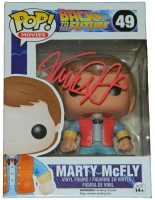 Michael J Fox Signed Back To The Future Marty McFly Funko Pop Vinyl Doll at PristineAuction.com