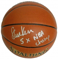 Steve Kerr Signed Spalding NBA Indoor/Outdoor Basketball w/5x NBA Champ at PristineAuction.com