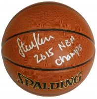 Steve Kerr Signed Spalding NBA Indoor/Outdoor Basketball w/2015 NBA Champs at PristineAuction.com