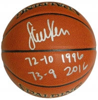Steve Kerr Signed Spalding NBA Indoor/Outdoor Basketball w/72-10 1998,73-9 2016 at PristineAuction.com