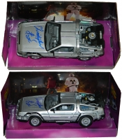 Christopher Lloyd Signed Back To The Future 1:24 Scale Die Cast Delorean Time Machine Car at PristineAuction.com