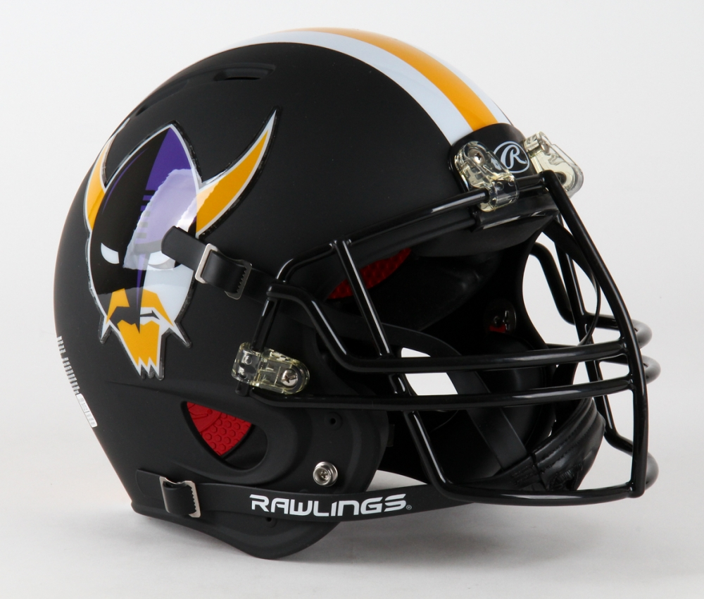 Minnesota Vikings Custom Full Size Matte Black Authentic Pro Line Helmet At PristineAuction
