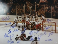 "1980 Team USA ""Miracle on Ice"" 16x20 Photo Signed by (20) Including Mike Eruzione, Jim Criag, Jack O'Callahan, Ken Morrow (JSA COA)"