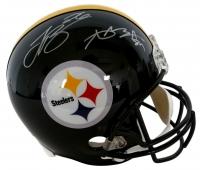 Antonio Brown & Le'Veon Bell Signed Steelers Full Size Helmet (JSA COA)