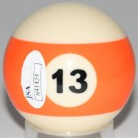 Willie Mosconi Signed #13 Pool Ball (JSA COA) at PristineAuction.com