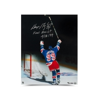 "Wayne Gretzky Signed New York Rangers Limited Edition 16x20 Photo Inscribed ""Final Assist 4/18/99"" (UDA COA) at PristineAuction.com"
