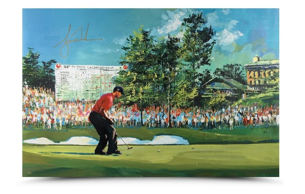 Tiger Woods Signed U.S. Open LE 29x44 SoHo Art Giclee on Canvas (UDA COA) at PristineAuction.com