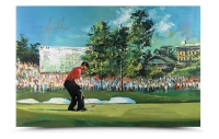 Tiger Woods Signed U.S. Open LE 29x44 SoHo Art Giclee on Canvas (UDA COA)