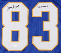 "Steve Largent Signed Tulsa Golden Hurricanes Jersey Inscribed ""'75 All-American"" (JSA COA) at PristineAuction.com"