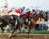 Steve Cauthen & Jorge Velasquez Signed 16x20 Photo (MAB Hologram)