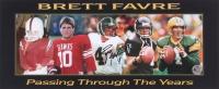 "Brett Favre Signed ""Passing Through The Years"" 7x18 Photo (Favre COA)"