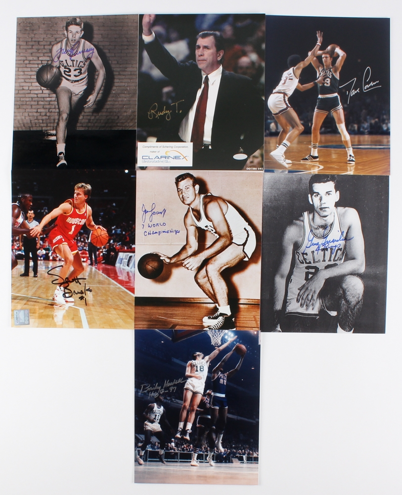d954e452e Lot of (7) Single Signed Basketball 8x10 Photos with Gene Guarilia