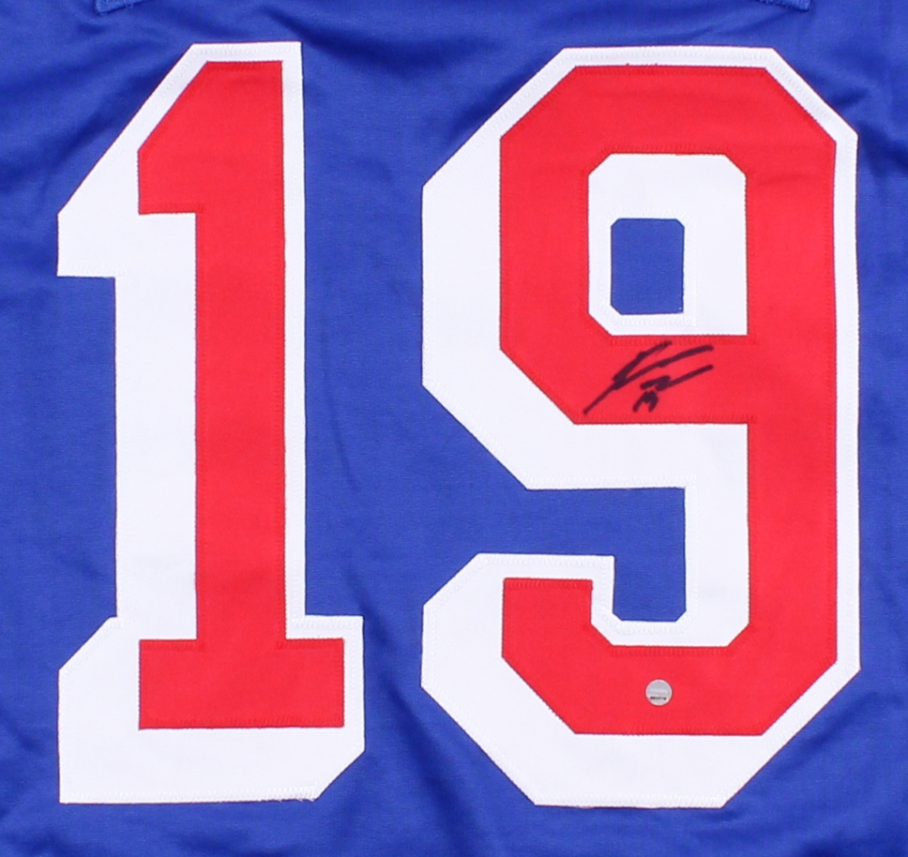 Jesper Fast Signed Rangers Jersey (Steiner COA) at PristineAuction.com ac83ca2ab