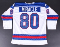 "1980 Team USA ""Miracle On Ice"" Jersey Team-Signed by (20) with Mike Eruzione, Jim Craig, Jack O'Callahan, Ken Morrow, Rob McClanahan (Fanatics)"