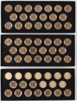 1999-2004 24k Gold Philadelphia & Denver Uncirculated Quarter Collection (Collectors Alliance COA)