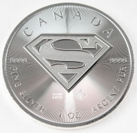 2016 Canada 1oz Silver $5 Superman Coin at PristineAuction.com