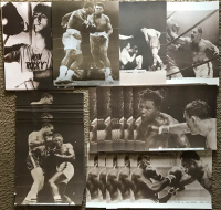 Lot of (100) Boxing 11x14 Photos With Muhammad Ali, Rocky Marciano, Rocky Balboa, Joe Frazier, Ezzard Charles, Sugar Ray Robinson, Joe Lewis, Billy Conn at PristineAuction.com