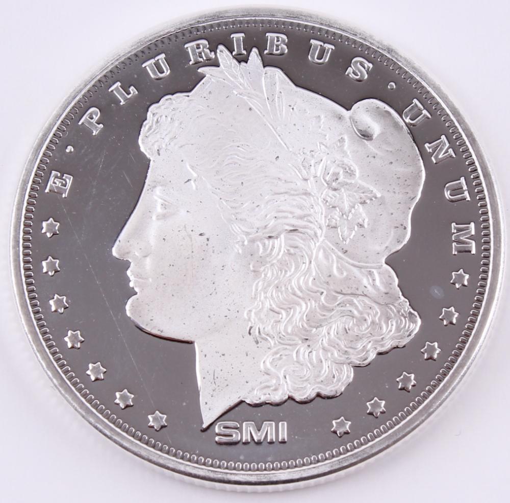 1 Oz Morgan Silver Bullion Round 999 Fine