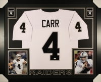 Derek Carr Signed Raiders 35x43 Custom Framed Jersey (JSA) at PristineAuction.com