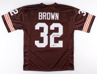 "Jim Brown Signed Browns Jersey Inscribed ""HOF 71"" (PSA COA)"