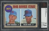 1968 Topps #177 Rookie Stars / Nolan Ryan RC / Jerry Koosman RC (BVG 7.5)