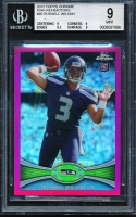 2012 Topps Chrome Pink Refractors #40 Russell Wilson (BGS 9)