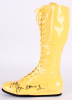 "Hulk Hogan Signed Wrestling Boot Inscribed ""Hulkamania 4 Life"" (Schwartz COA)"