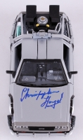 "Christopher Lloyd Signed ""Back to the Future"" DeLorean 1:24 Diecast Car (JSA COA)"