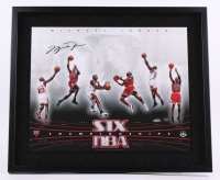 Michael Jordan Signed LE Bulls 21x25 Custom Framed Photo (UDA COA)