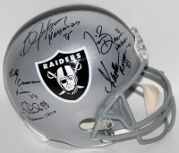 Multi-Signed Raiders Full-Size Helmet with (5) Signatures Including Jim Plunkett, Bo Jackson, Billy Cannon, Marcus Allen & Tim Brown (JSA COA & Player Holograms)